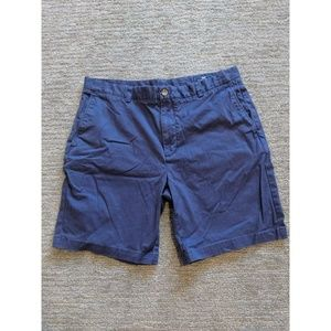 Vineyard Vines Mens Shorts Blue Flat Front Zip Fly
